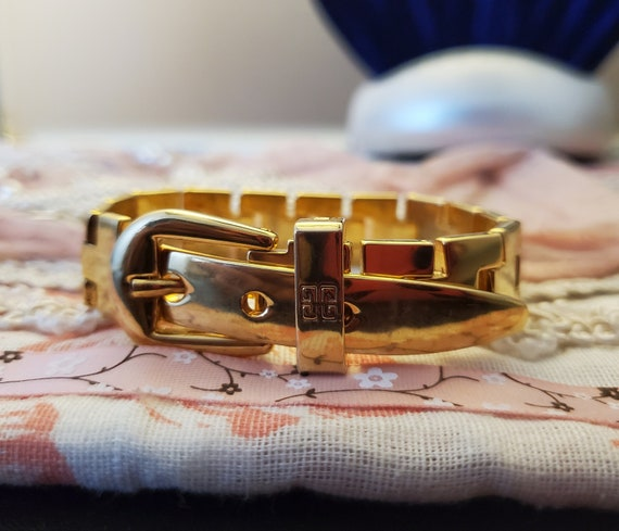 Givenchy Belt Buckle Bracelet, Vintage Givenchy, R