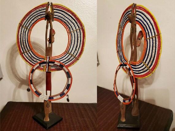 Folk Art & Maasai Collar Beaded Necklace Wedding N