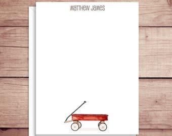 Wagon Thank You Notes - Wagon Flat Notes - Wagon Note Cards - Personalized Note Cards- Thank You Cards