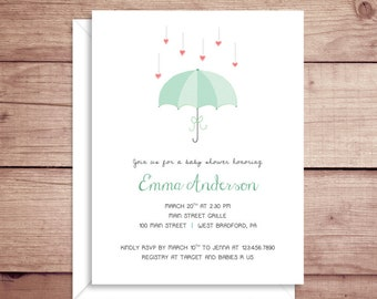 umbrella invitations etsy