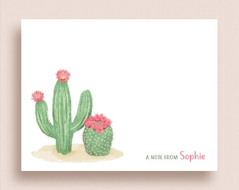 Fine Stationery Cactus Cards CP1 Social Stationery Cacti Note Cards Cactus Stationery Tall Cactus Note Card Set Custom Cactus