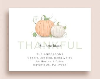Fall Moving Announcement - Fall New Address Announcement - Fall Pumpkin Moving Announcement - Fall New Home - Pumpkin New Home