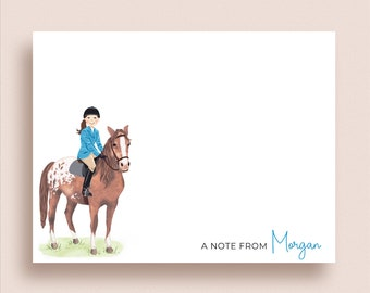 Equestrian FLAT Note Cards - Horse Flat Notes - Horse Stationery - Horse Note Cards - Equestrian Notes - Chestnut Blanket Appaloosa Horse