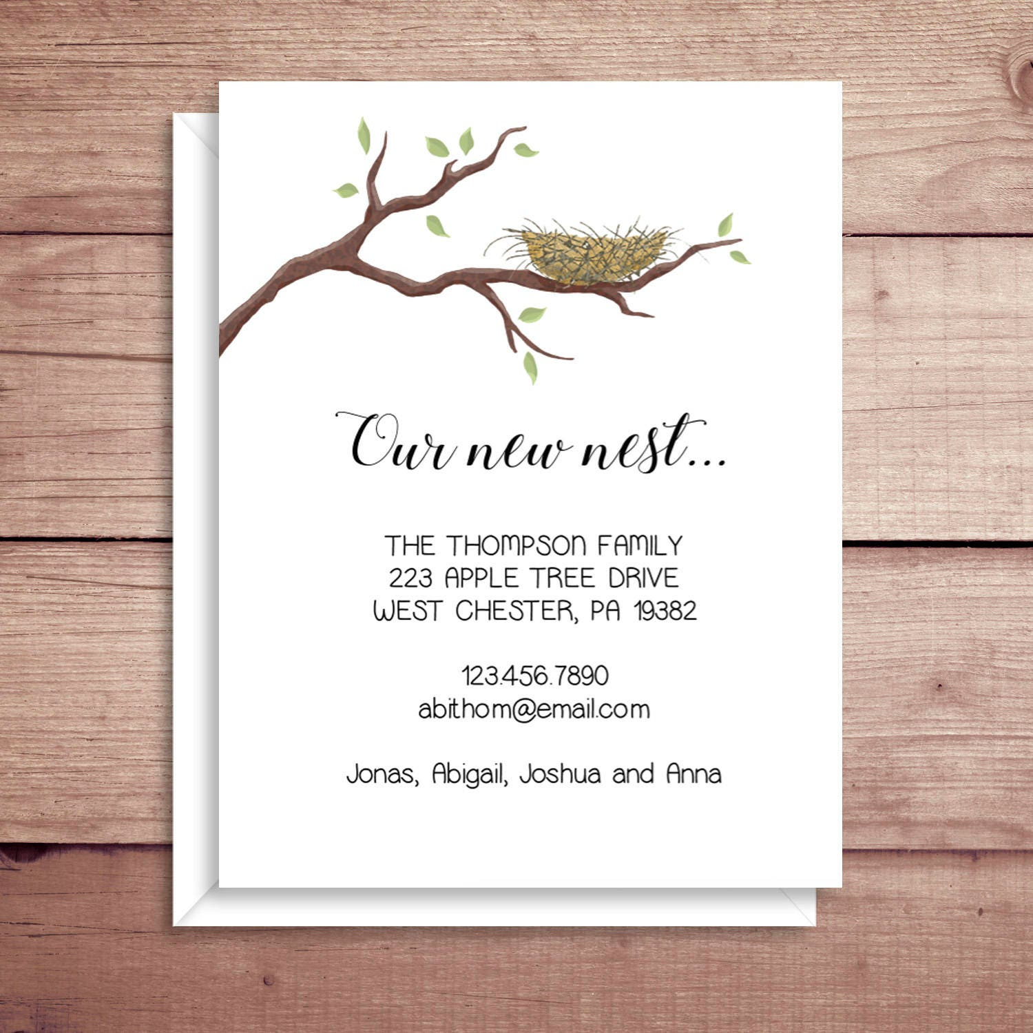 moving announcements new address announcements nest etsy