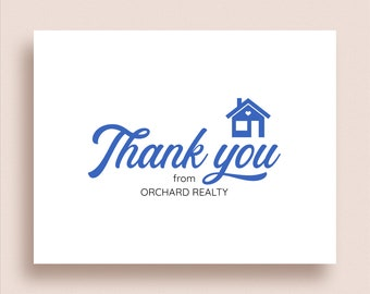 House Note Cards - New House Folded Note Cards - Realtor Stationery - New Home Thank You Notes - Realtor Thank You Notes