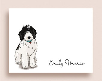 Labradoodle Note Cards - Labradoodle Folded Note Cards - Personalized Labradoodle Stationery - Dog Stationery - Dog Thank You Notes