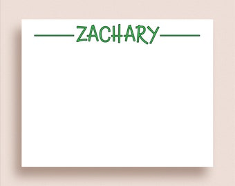 Personalized Note Cards - Flat Note Cards - Personalized Stationery - Personalized Thank You Cards - Monogram Stationery