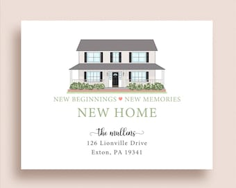 House Moving Announcement - New Address Announcements - New Home Announcements - New Address Cards - Home Sweet Home Announcements