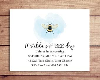 Bumblebee Birthday Party Invitations - Bumblebee Invitations - Bee Party Invitations - Bee-Day Invitations - Honey Bee Invitations