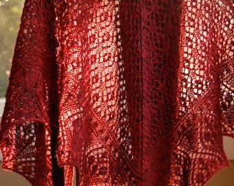 Flower Market Shawl - PDF Knitting Pattern