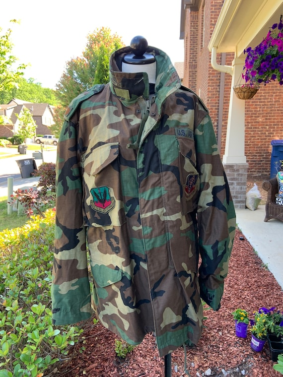 Vintage US Military M65 Camo Field Jacket.