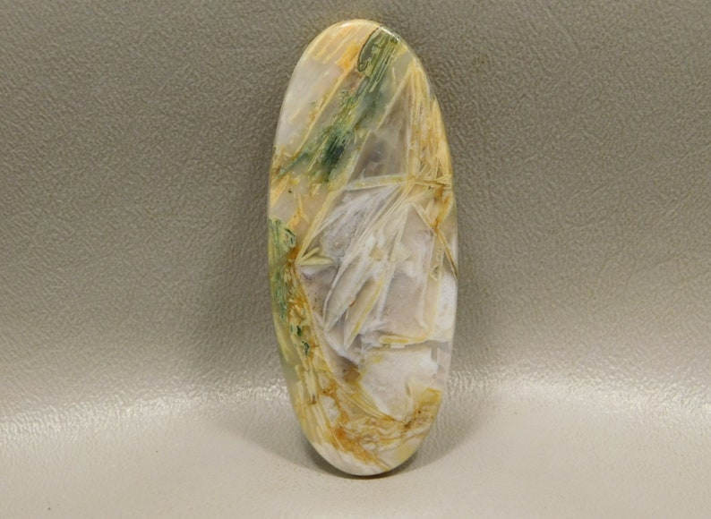 Large Cabochon Stone Sagenite or Chopstick Agate Collector Healing #e1