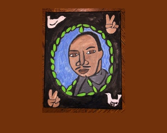 Martin Luther King Jr MLK I have a Dream Peace Dove Victory Olive Branch Art Painting Inkjet Canvas Print