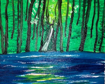 Trees by water