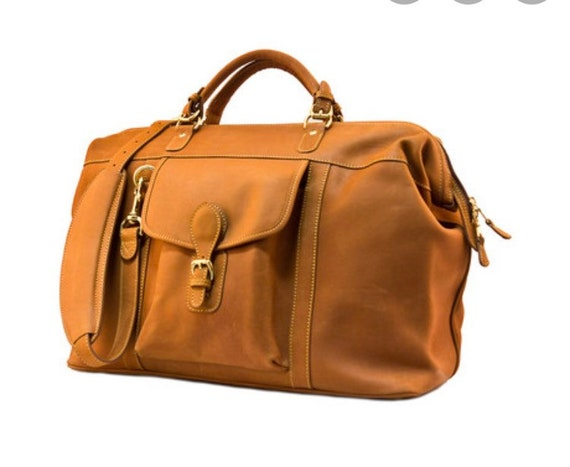 Mullholand leather duffel bag