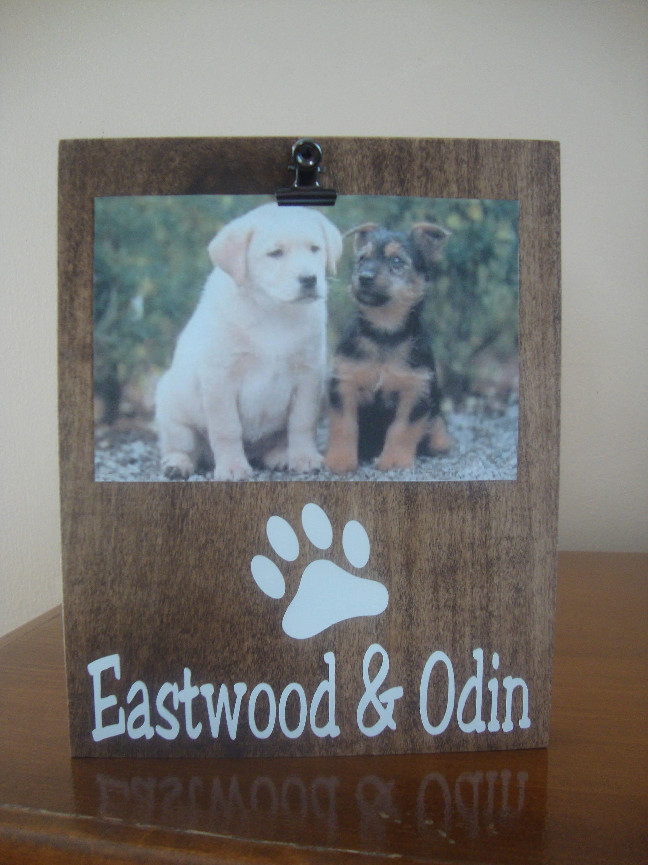 Personalized Dog Frame Paw Print Frame Dog Frame Pet Frame | Etsy