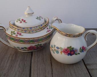 Grosvenor Sugar and Creamer Set - Florian Pattern