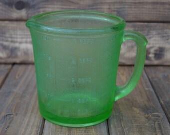 Vaseline Glass Measuring Cup