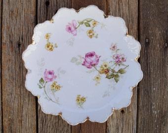 Rosenthal Floral Plate - Malmaison Bavaria