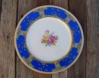Lenox Art Deco Dinner Plate - Hand Painted
