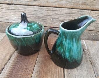 Blue Mountain Pottery Creamer and Sugar Bowl (Canada)