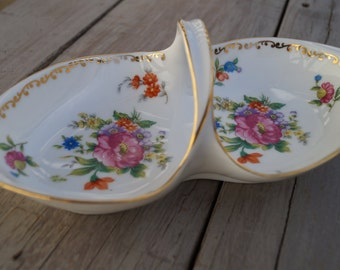 Noritake Relish Tray - Dresdlina Pattern
