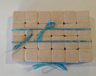 26 Baby Blocks Wood Blocks Baby Blocks Alphabet Pack Wooden Blocks Hand Made Unfinished Blocks Baby Shower Activities