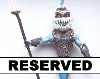 Reserved for A. D. - Payment 4/4: Monster High Repaint custom OOAK merman warrior guardian shark finnegan wake