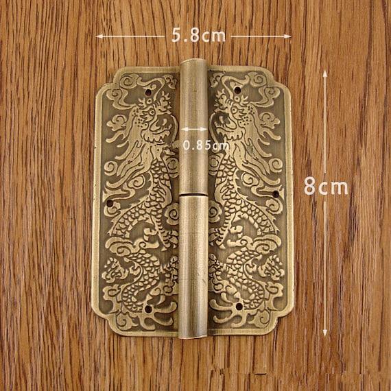 Brass Made: 2 Pcs 80MMx58MM Brass Cabinet Door Hinges   Etsy