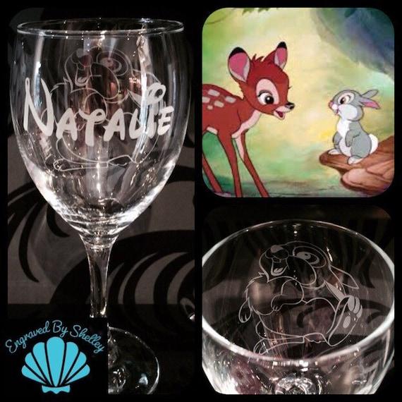 Personalised Bambi Cute Handmade Highball Glass FREE Name Engraving!Custom Gift!