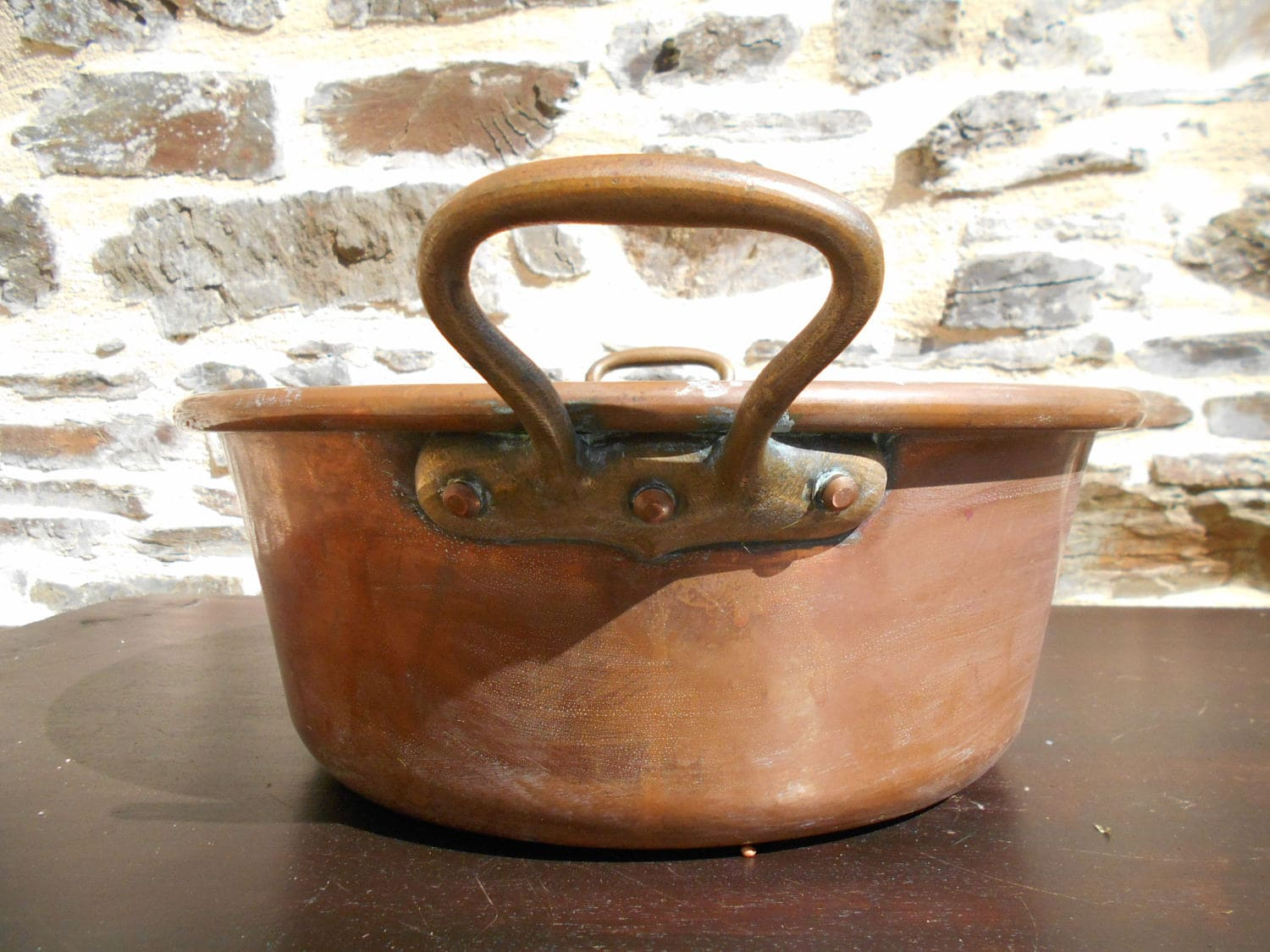 Vintage French Copper Jam Pan Etsy