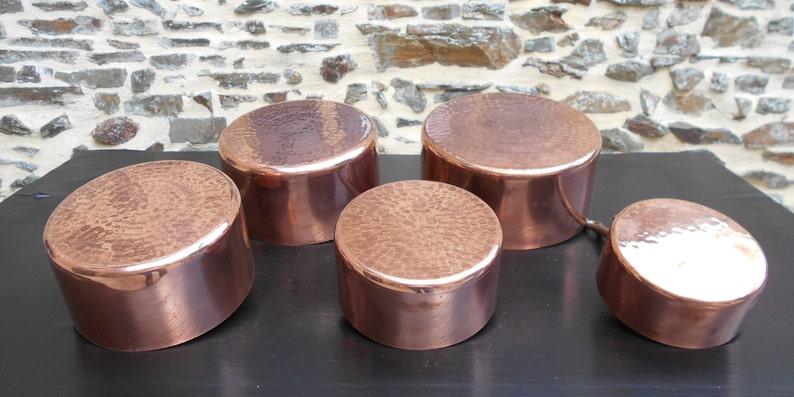 Havard Copper Pans Series of 5 4983g 1.4mm Copper Pans Amazing set of 5 Vintage Havard 2MM