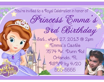 Sofia the first invitation etsy princess sofia the first birthday party invitations diy instant download printable digital file filmwisefo