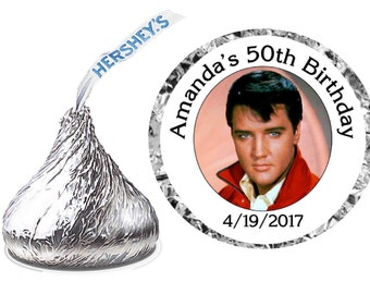63d6123ff2 216 ~ ELVIS PRESLEY Party Hershey Kiss Kisses stickers Labels ~ free  shipping