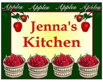 Personalized Apples Kitchen MAGNET ~ FREE SHIPPING