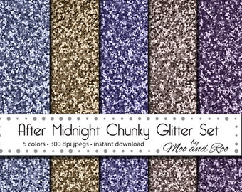 "High Resolution Digital Glitter Paper, ""After Midnight"" Chunky Glitter Paper, Purple Glitter Texture, Gold, Mauve, Instant Download, 8""x10"""