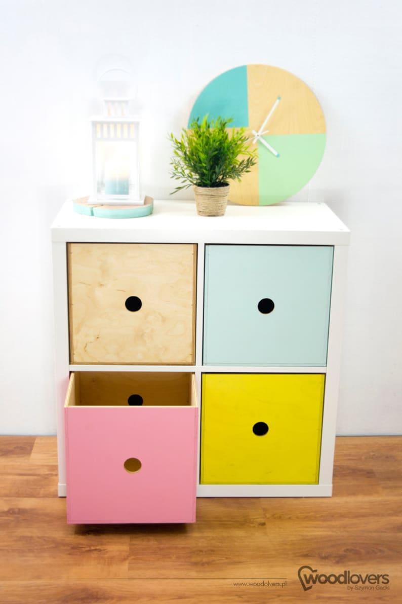 Expectit 1 0 Wooden Box Insert For Shelf Cabinet Ikea Etsy