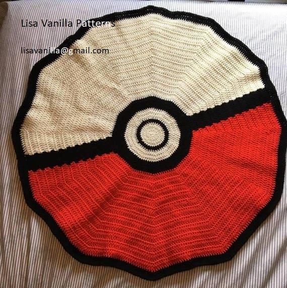 Baby Pattern For Pokeball Crochet Blanket Etsy