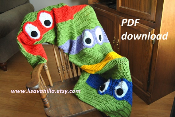 Ravelry free crochet pattern: Teenage Mutant Ninja Turtle by ... | 381x570
