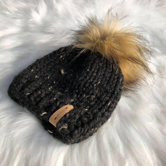 ecfae87f0c1 Hand Knit Slouchy Pom Pom Hat    Sizes Newborn Adult    The