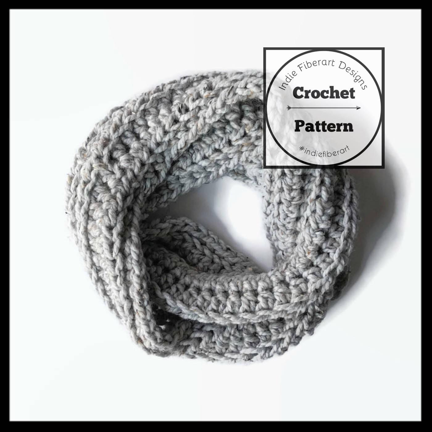 Diy Crochet Pattern Chunky Infinity Scarf Child Adult Etsy