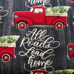 Details about  /All Roads Lead Home At Christmas Sofa Blanket