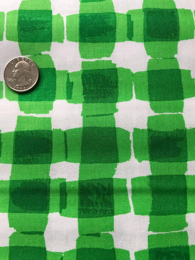 \u201cMad for Melon\u201ddesigned by Maria Kalinowski KANVAS in Association with Benartex Pattern #MOD Gingham-C6326 Mad for Melon Cotton Fabric