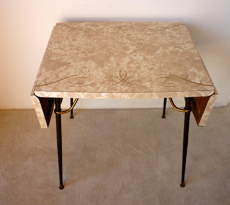 vintage retro formica table mid century formica kitchen etsy. Black Bedroom Furniture Sets. Home Design Ideas