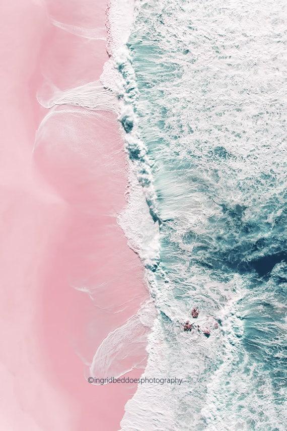 Luftige Strand Fotografie Strand drucken Ozean-Druck große   Etsy