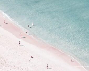 Aerial beach photography, beach print, large beach photography, beach decor, minimal beach fine art print, ocean print, wall decor, wall art