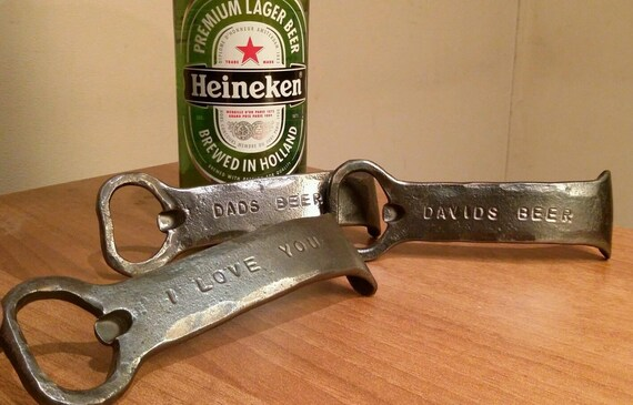 6th Wedding Anniversary Gift Ideas For Men: Personalized Iron Beer Bottle Opener 6th Wedding Anniversary