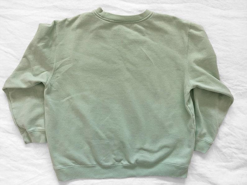 Vintage Teal Sweatshirt  Mint Colored Sweatshirt  Oversized Womens Sweatshirt  Womens L