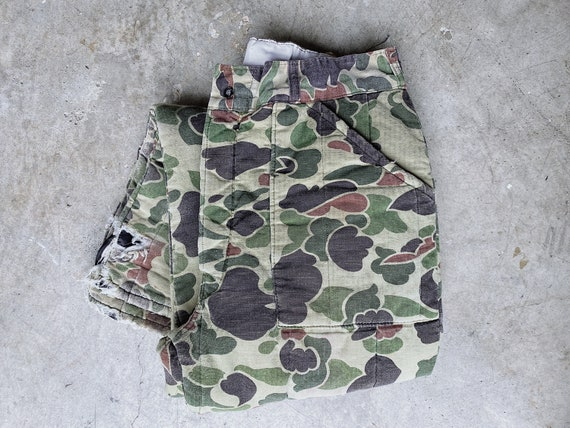 Vintage Quilted Camo Pants / Camouflage Cargo Pant