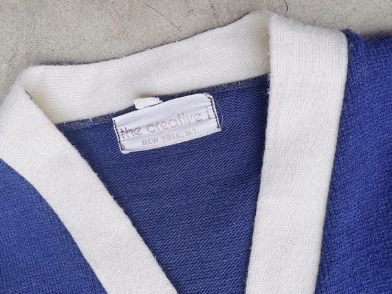 1950's Navy Varsity Sweater / Unisex M - image 6